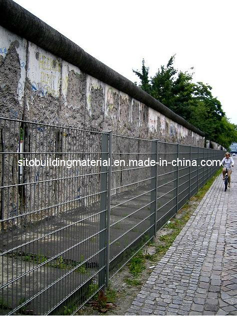 Hot-Dipped PVC Coated Double Wire Fence/PVC Wire Mesh Fence Panel/ Fence Netting